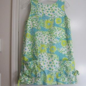 Lilly Pulitzer Shift Dress - 6 - Fish/Daisy